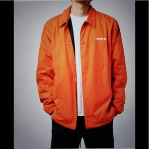 Hurley Men's Siege Coaches Jacket - Hyper Orange
